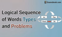 logical sequence of words types and problems