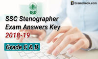 ssc stenographer exam answer key 2018-19