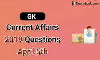 GK-Current-Affairs-2019-Questions-April-5th