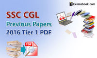 SSC CGL previous papers 2016